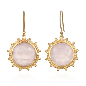 Satya Open Hearted Rose Quartz Earrings