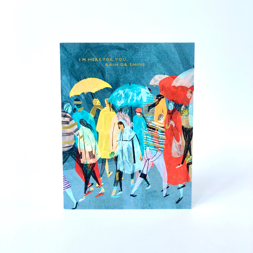 Here For You Rain Or Shine Friendship Card