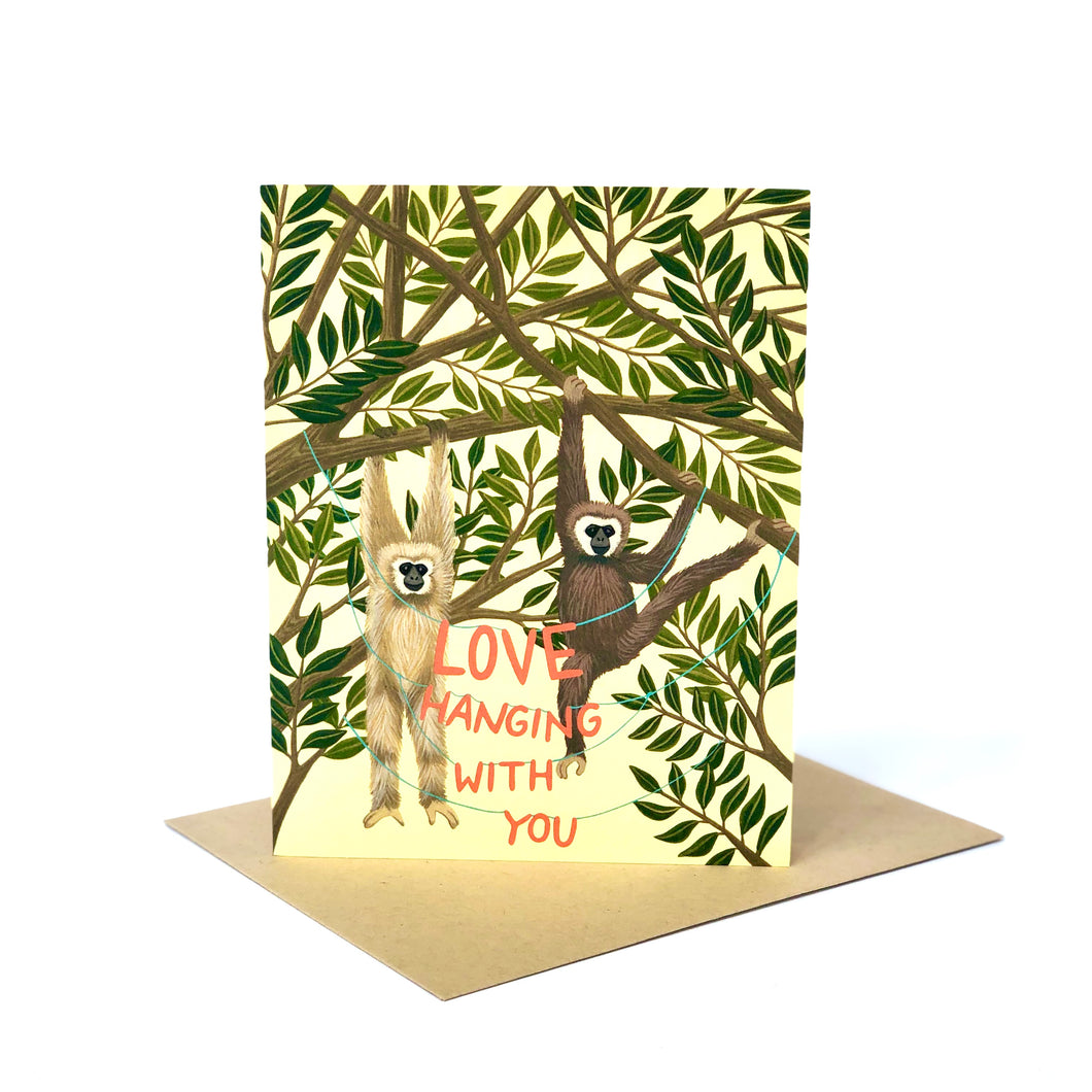 Love Hanging With You Friendship Card