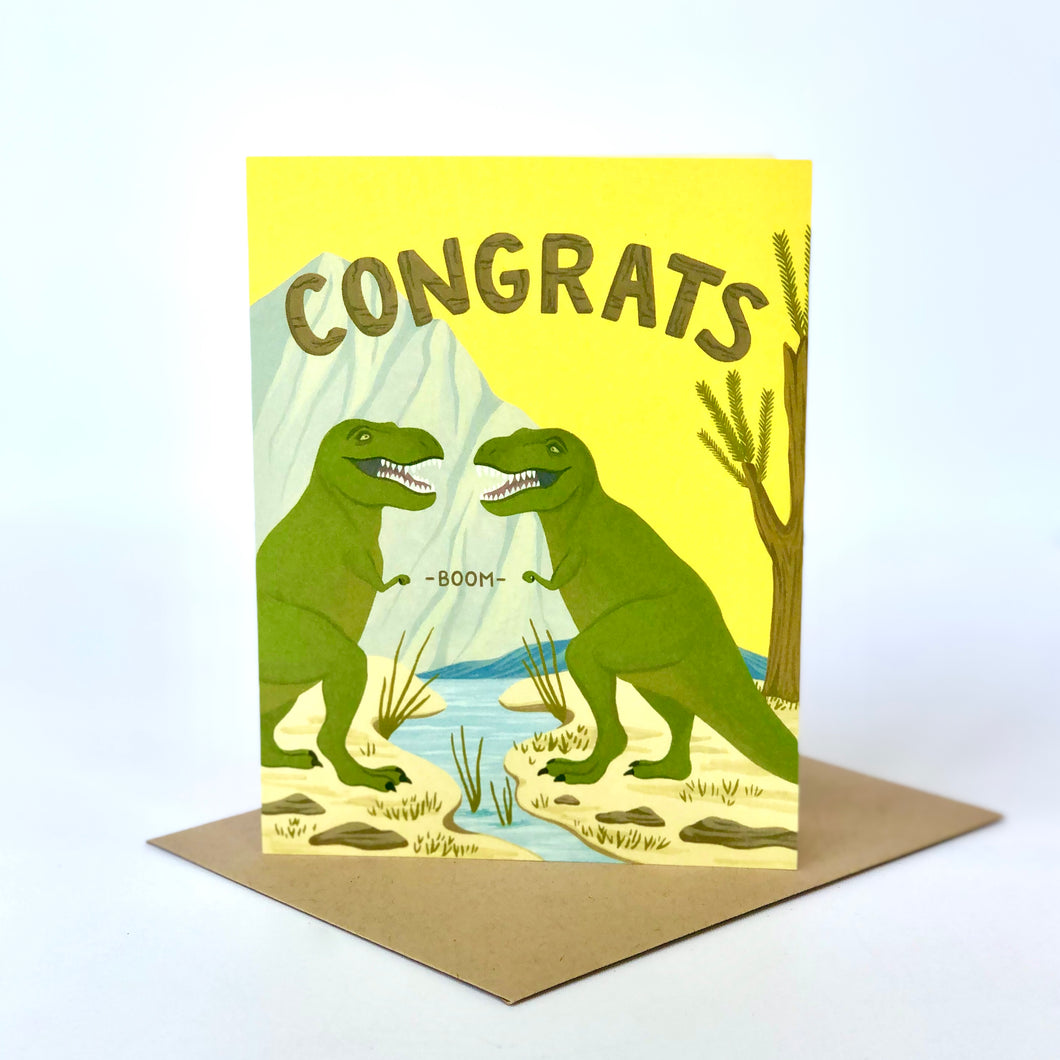 Rex Fist Bump Congratulations Card