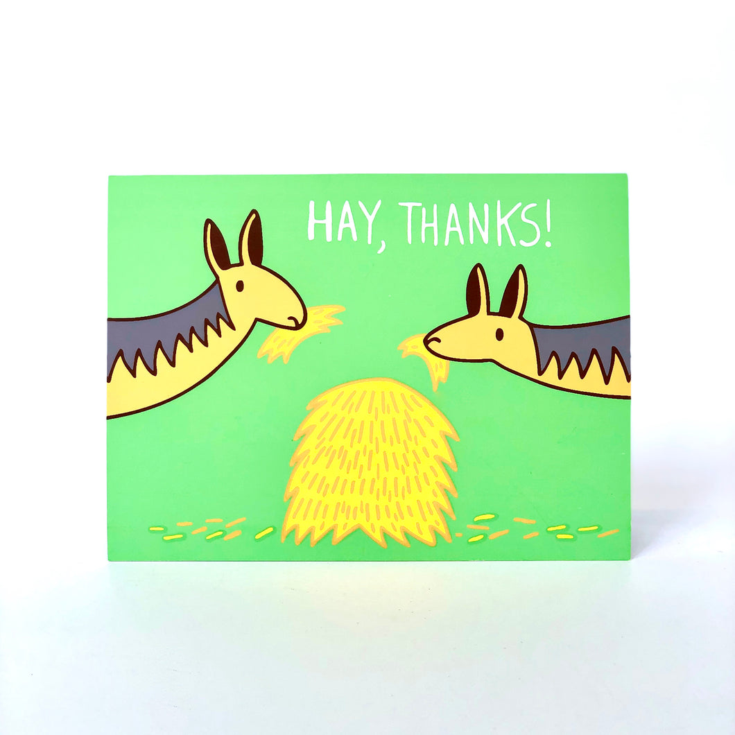 Hay, Thanks Card