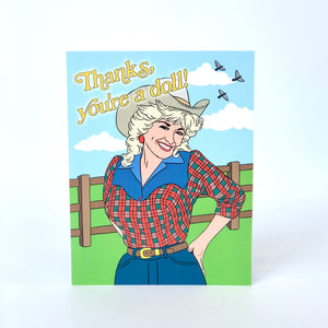 You're a Doll Thank You Card
