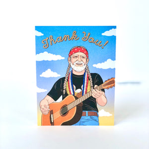 Willie Nelson Thank You Card
