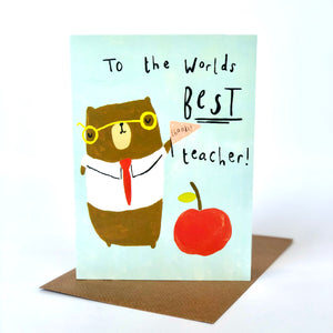 Thank You To The World's Best Teacher Card