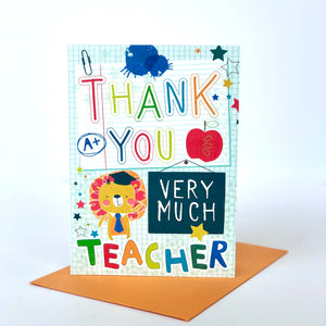 A+ Thank You Very Much Teacher Card
