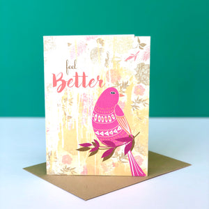 Feel Better Bird Card