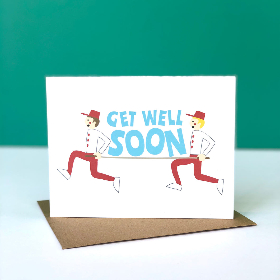 Get Well Soon Stretcher Card