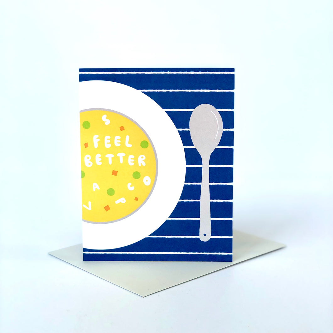 Feel Better Alphabet Soup Card