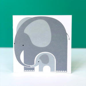 Love To You & Your Little One Elephant Card