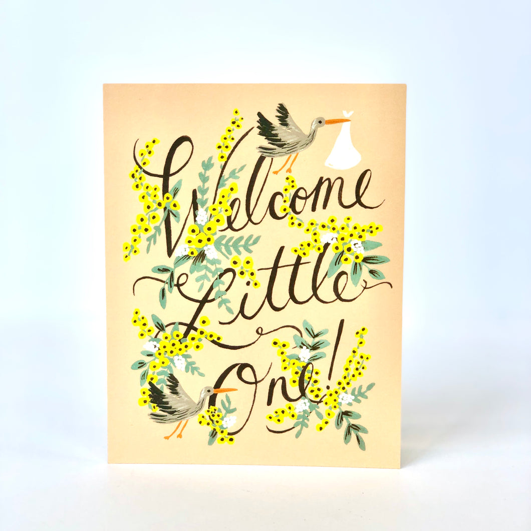 Rifle Welcome LIttle One Card