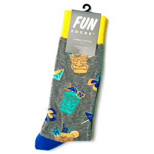 Fun Tiki Drinks Crew Sock