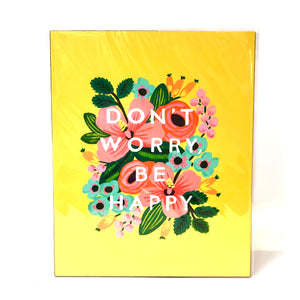 Rifle Don't Worry Be Happy Art Print 8x10