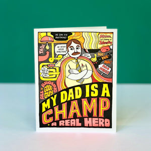 My Dad Is A Champ Father's Day Card