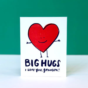 Big Hugs, Grandpa Father's Day Card