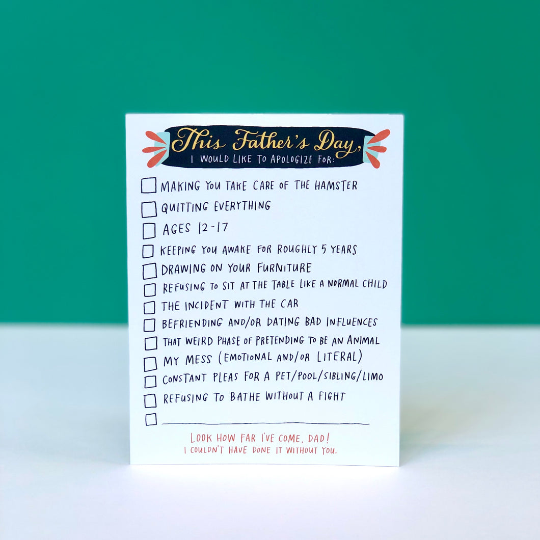 Father's Day Checklist Card