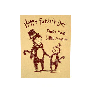 Little Monkey Father's Day Card
