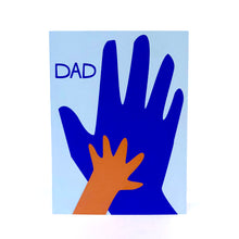 Load image into Gallery viewer, Handprint Father's Day Card