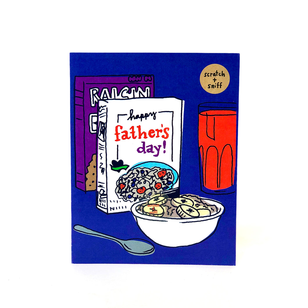Scratch & Sniff Cereal Father's Day Card