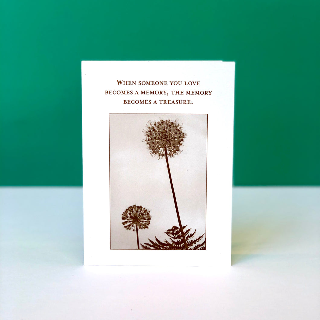 Treasured Memory Sympathy Card