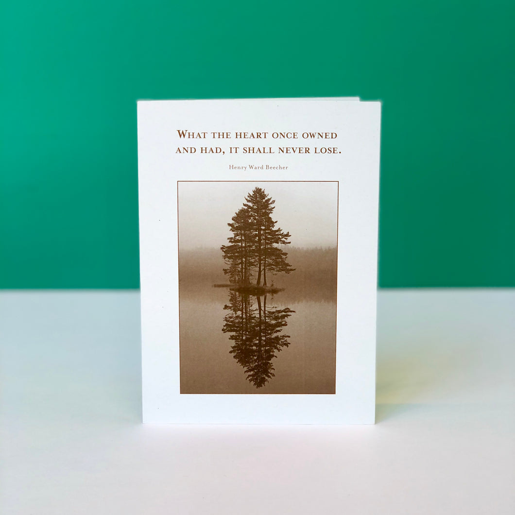 Beecher Quote Sympathy Card