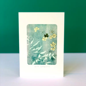 Yellow & Green Floral Sympathy Card