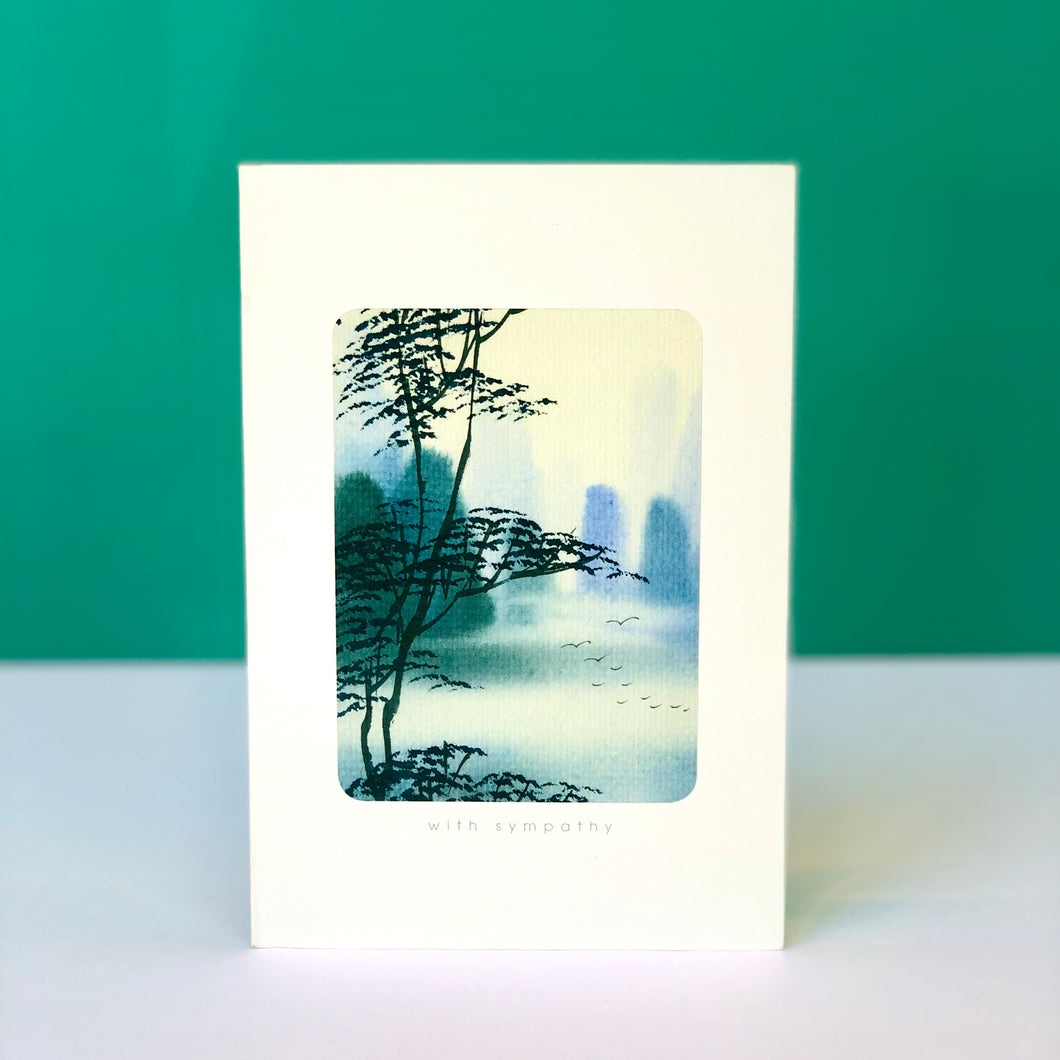 Tree and Birds Sympathy Card
