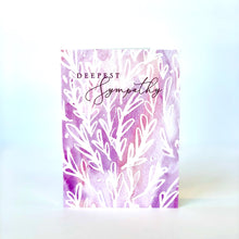 Load image into Gallery viewer, Purple Deepest Sympathy Card
