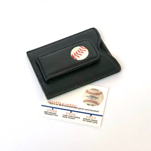 Tokens & Icons Game Used Baseball Money Clip Wallet