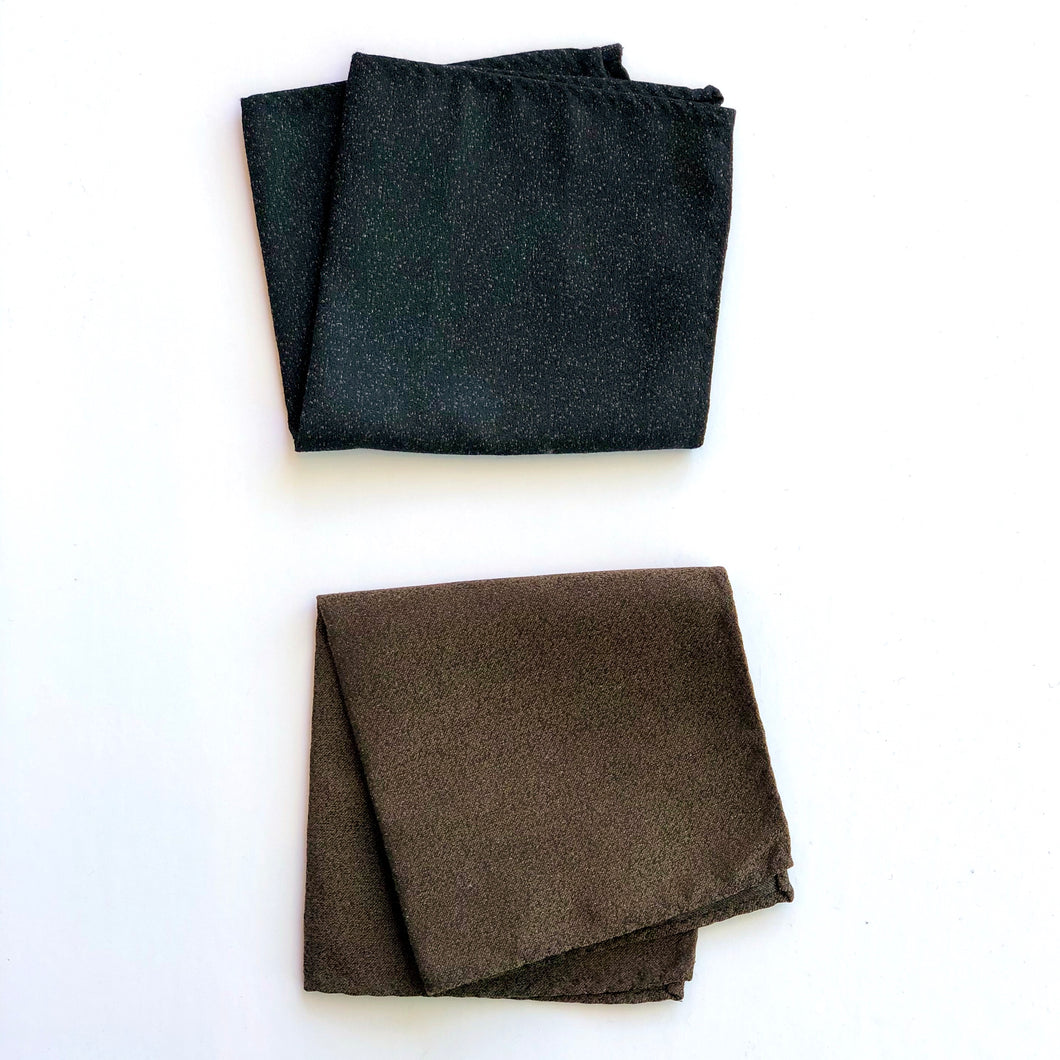 Dibi Black & Brown Textured Pocket Square Set