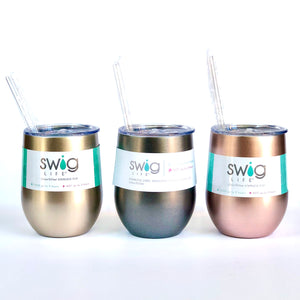 Swig 12 oz Metallic Wine Tumbler (Multiple Colors!)