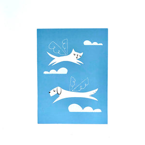 Dog and Cat Angels Card