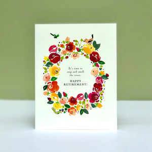 Time to Smell the Roses Card