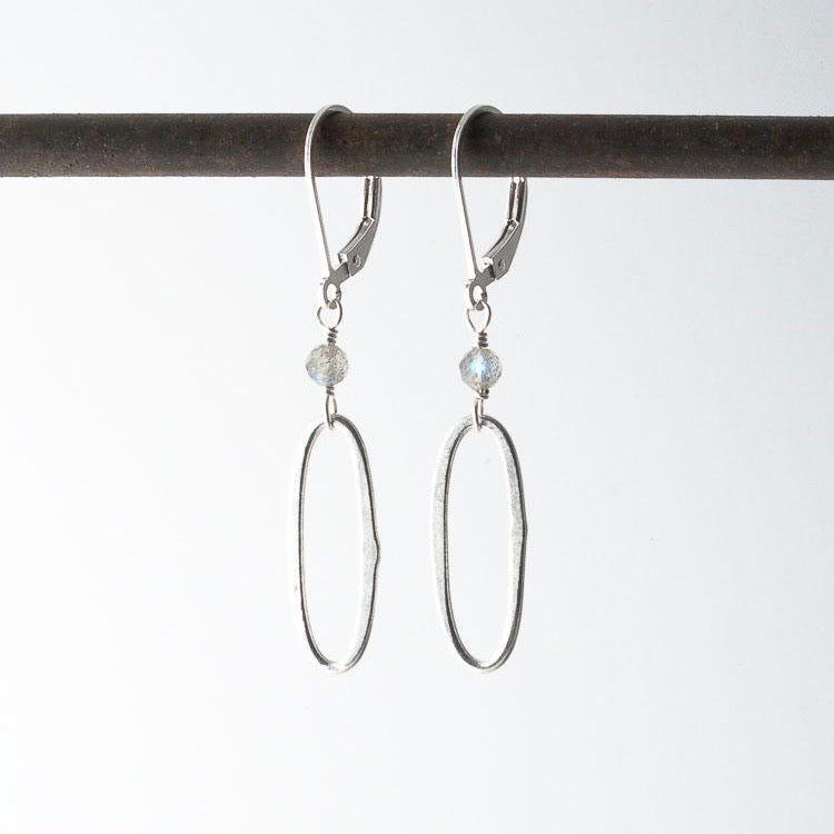 Deana Rose Labradorite Oval Drop Earrings