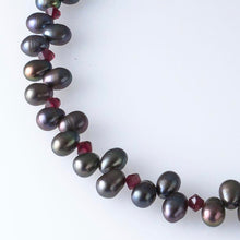 Load image into Gallery viewer, Deana Rose Garnet Grace Necklace