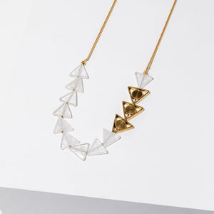 Larissa Loden Petra Necklace in Clear Quartz