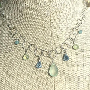 Deana Rose Prehnite, Topaz, and Quartz Necklace
