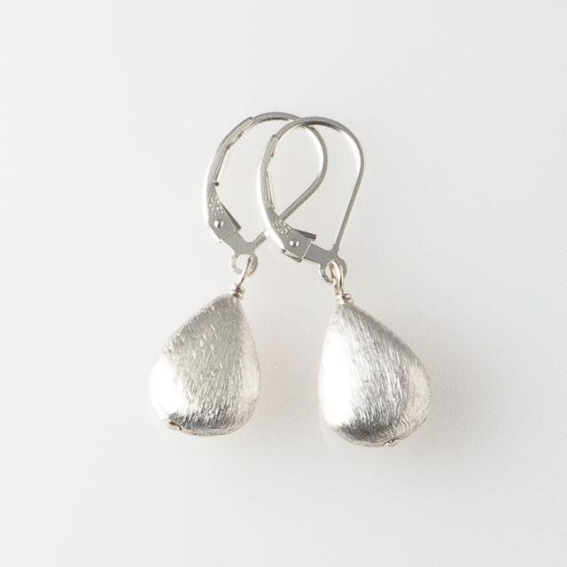Deana Rose Brushed Silver Earrings