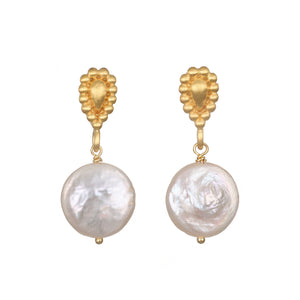 Satya United in Love Coin Pearl Earrings