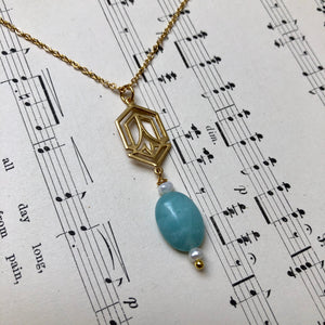 Madame Annie Deco Amazonite Necklace