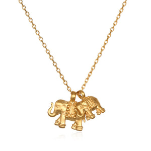 Satya Double Elephant Necklace