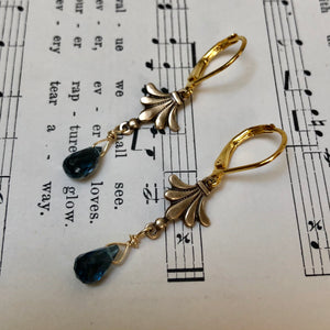 Madame Annie Fleur-De-Lis Topaz Earrings