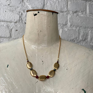 Madame Annie Gold Bead Necklace