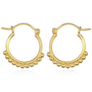 Satya Small Hoops With Dots