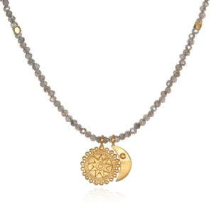 Satya Mystical Moon & Mandala Necklace