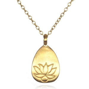 Satya Arise Etched Lotus Necklace