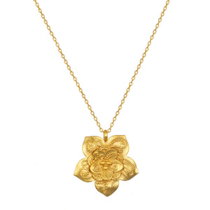 Satya New Beginnings Paisley Lotus Necklace