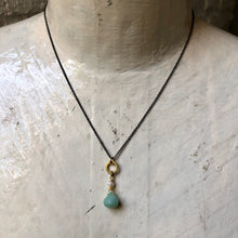 Load image into Gallery viewer, Madame Annie Peruvian Opal & Circle Necklace