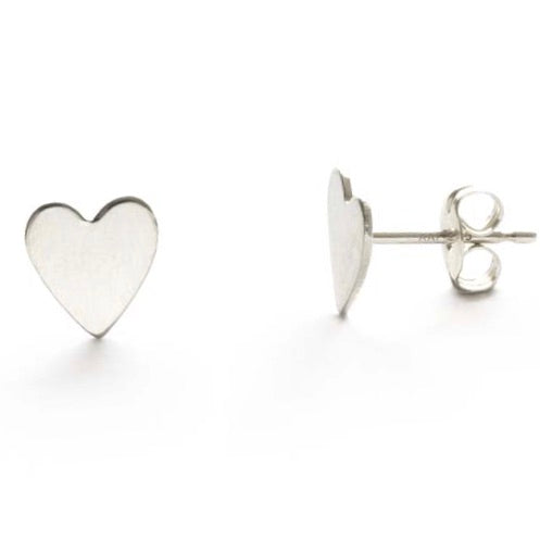 Amano Sterling Silver Heart Studs