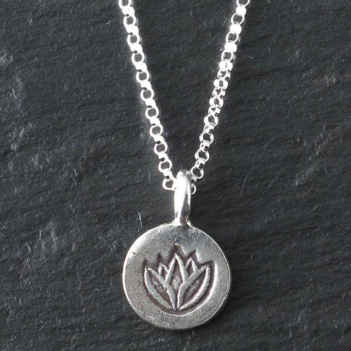 Deana Rose Small Lotus Necklace