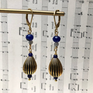 Madame Annie Vintage Teardrop Bead Earrings
